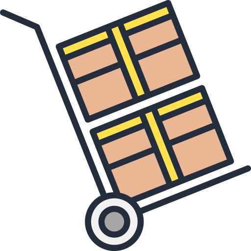 secure storage and truck rental icon
