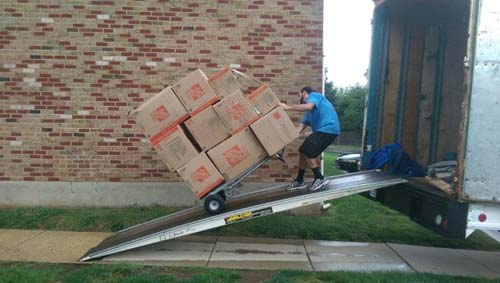 Professional Movers Heavy Lifting self storage boxes