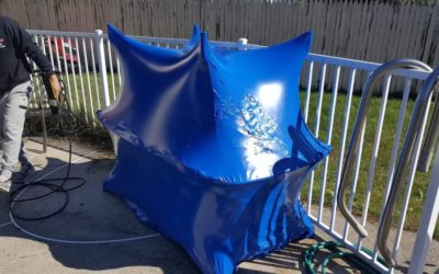Yard Furniture Shrink Wrapping